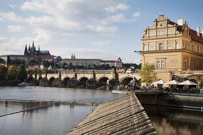 view of Charles Bridge in Prague
