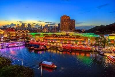 Clarke quay view from above