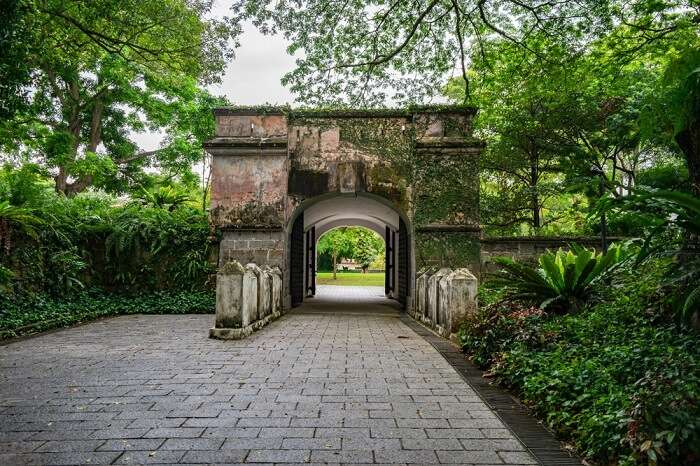 main entrance gate to Fort Canning park