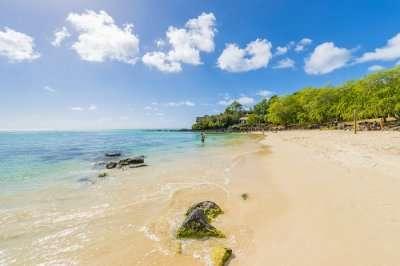 public beach in Mauritius