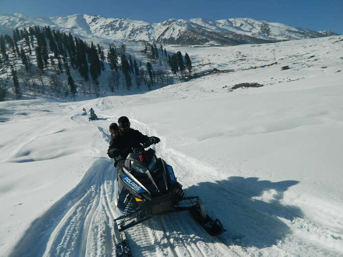 Snow Scooter Ride at Gulmarg