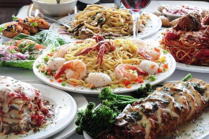 big plates of pasta
