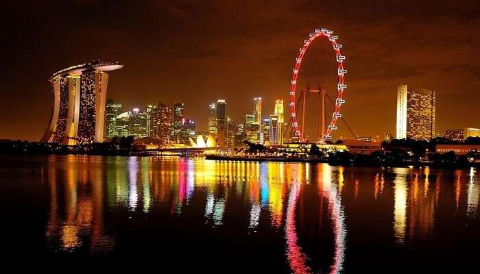 Singapore Flyer On New Year's