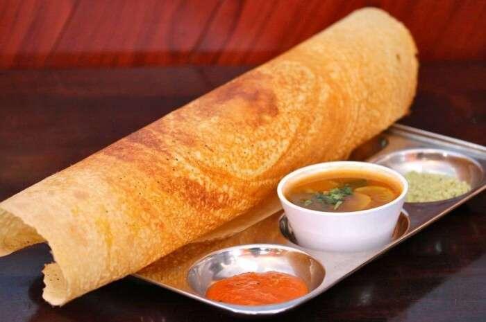 Enjoy a vegetarian meal here at Udupi