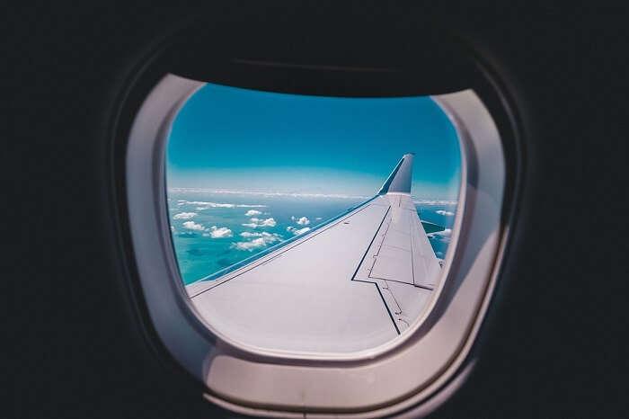 view airplane window