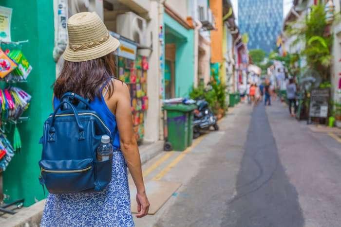 traveler in haji lane