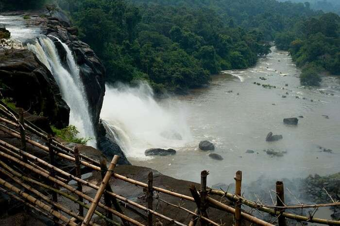 Magnificent and largest Athirapally falls