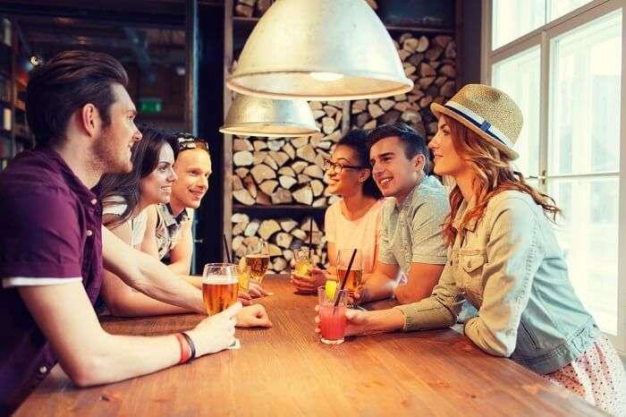 People enjoying in a bar