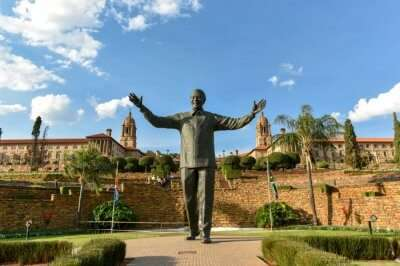 Nelson Mandela's statue, Pretoria, S Africa