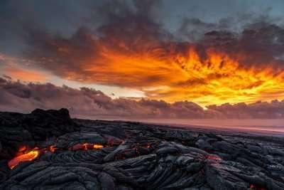 lava flowing
