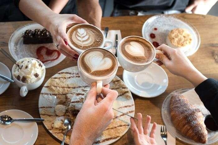 people having coffee