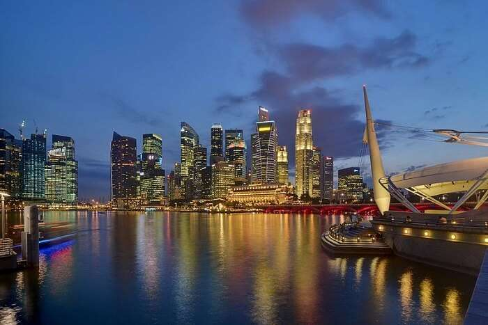 Singapore view at night