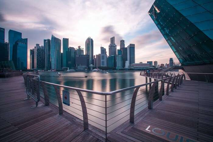 boardwalk in Singapore