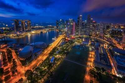 view of Singapore from above