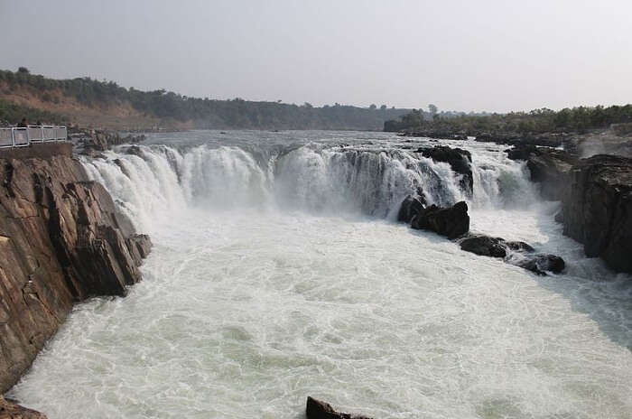 Blissful the sight of these falls in Jabalpur