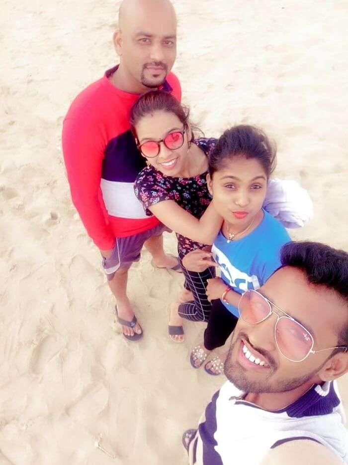 we at the Calangute beach