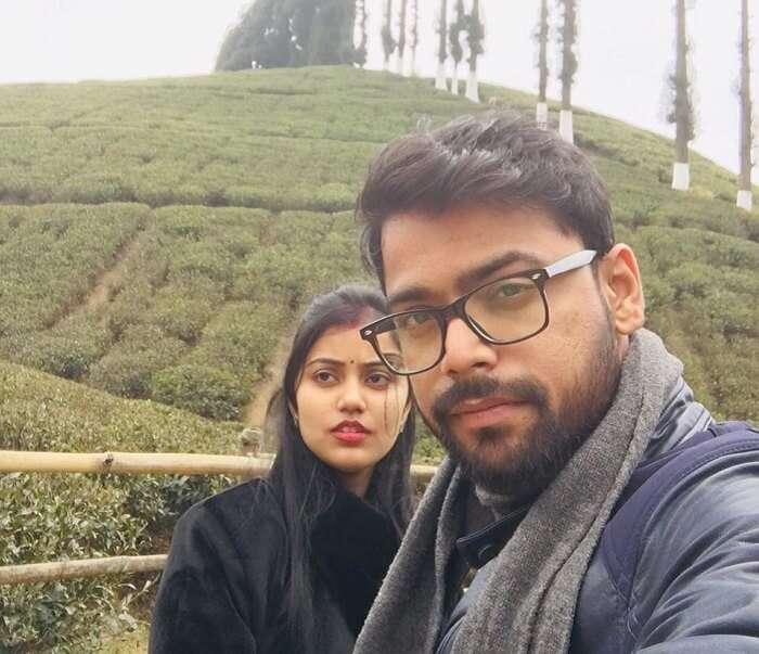 Exploring the tea plantations in Darjeeling
