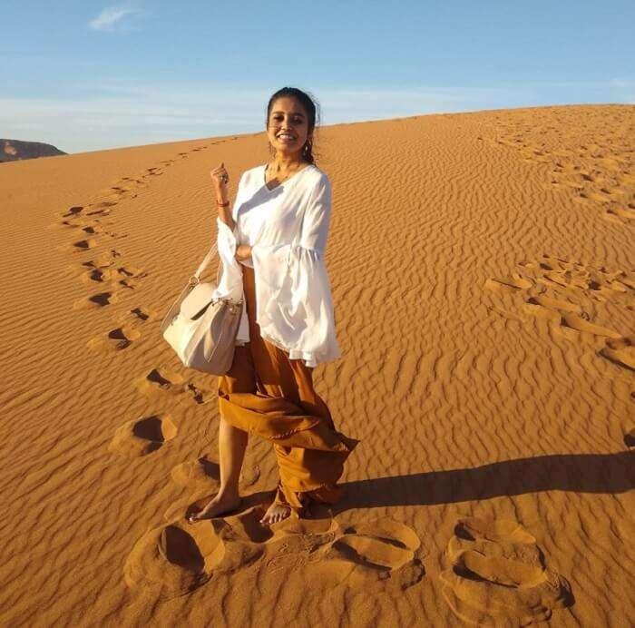 visiting to the desert safari