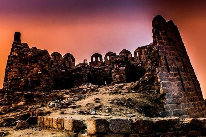 Tughlaqabad's fort double-storied bastions