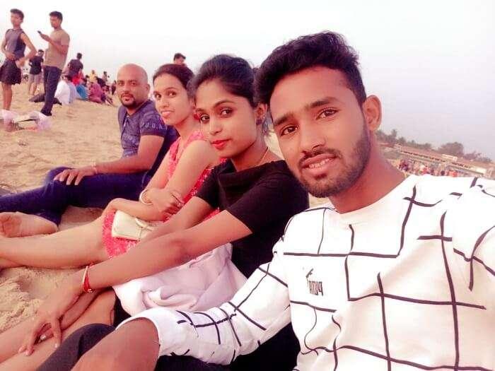 at the Vagator beach
