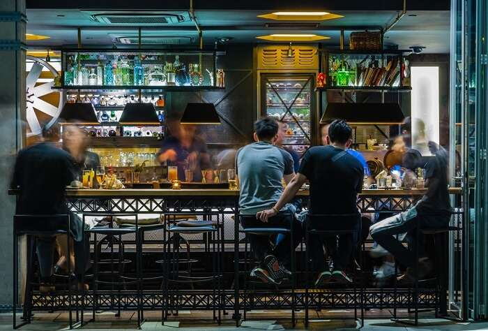 people in a bar