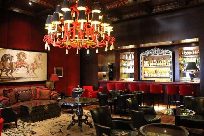 interiors of a bar