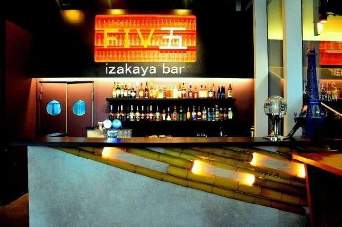bar counter at five izakaya