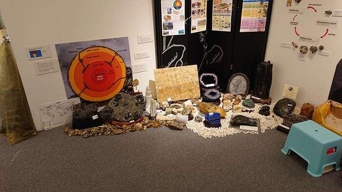 a rare display of gems at the gem museum
