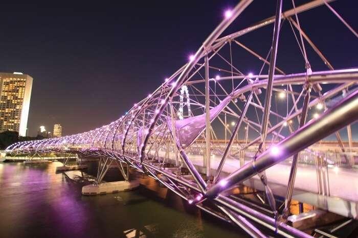 Lights on a bridge