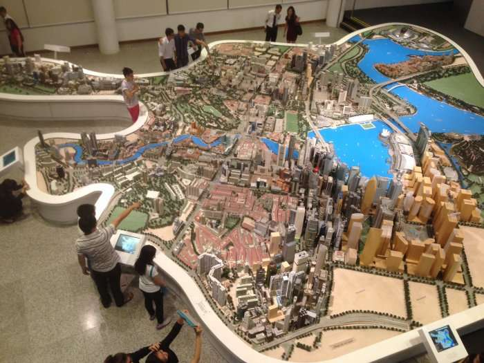 aerial view of singapore citygallery