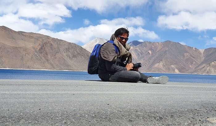 enjoying in ladakh