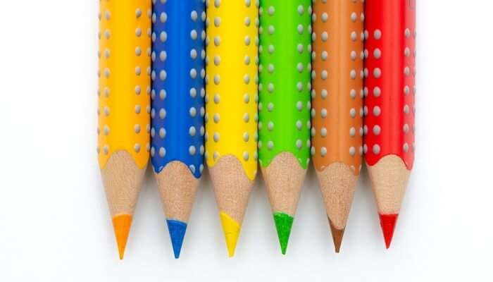 Colorful Pencils Painting Color Stationery Paint