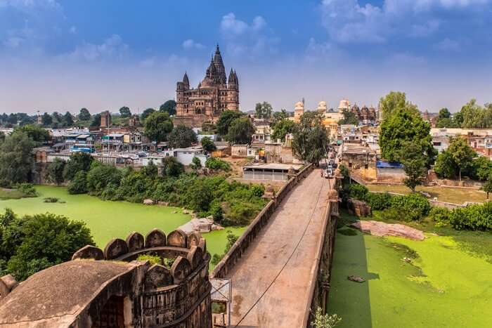 city view of Orchha