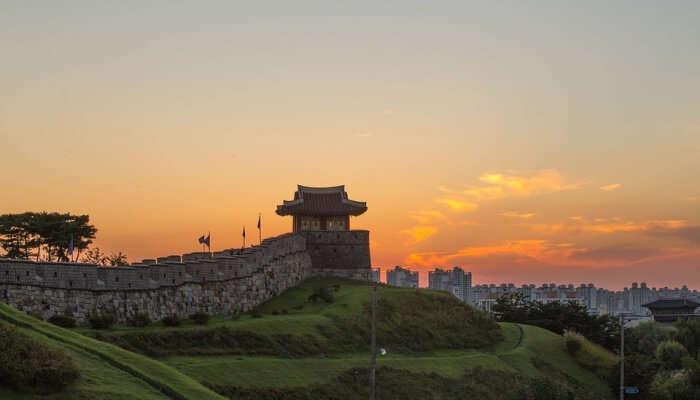 Hwaseong Fortress Near Seoul