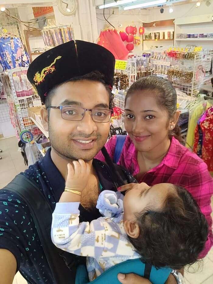 enjoying with family