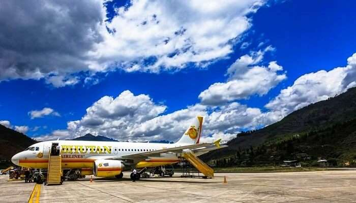 touched down to bhutan