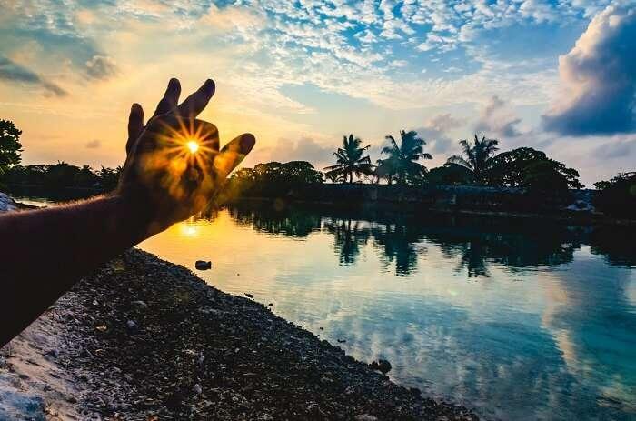 catching the amazing sunset