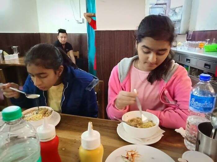 having meal
