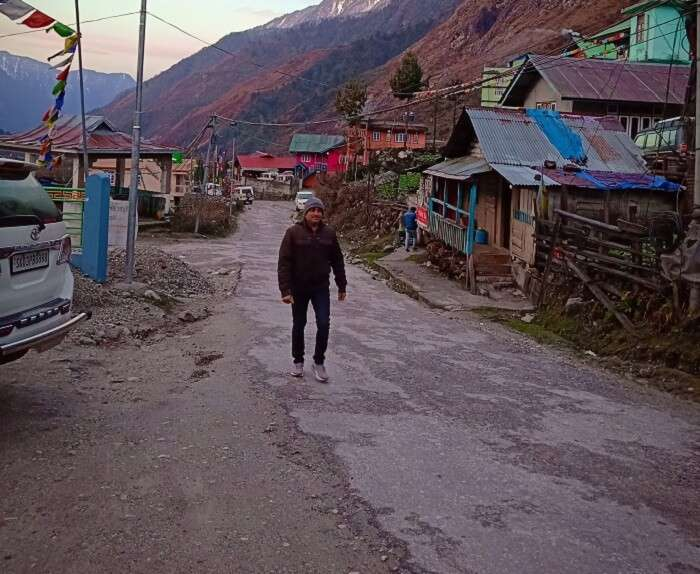 in the morning at Yumthang Valley