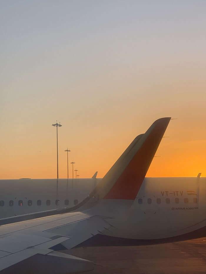 took flight from bangalore