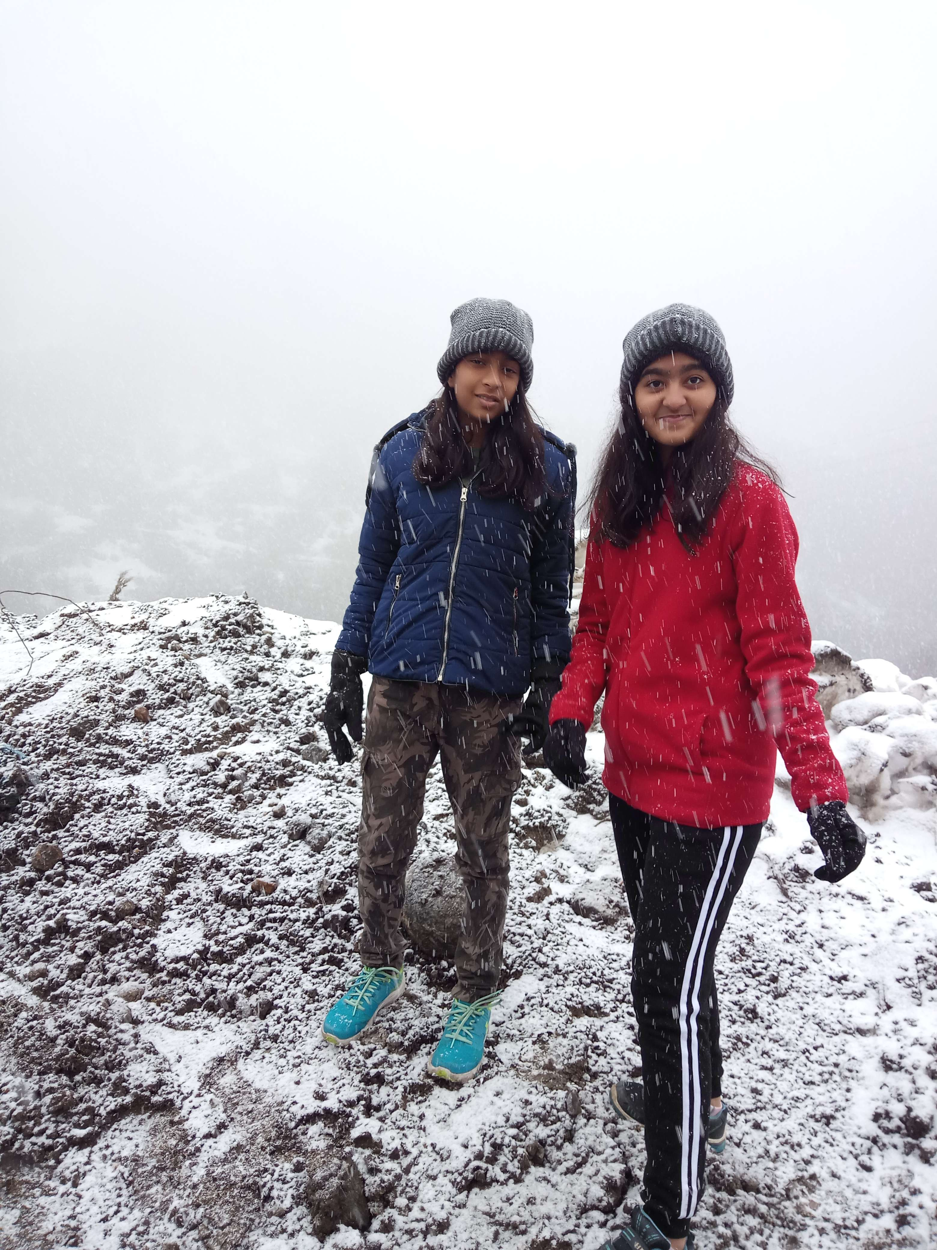 enjoying the snowfall