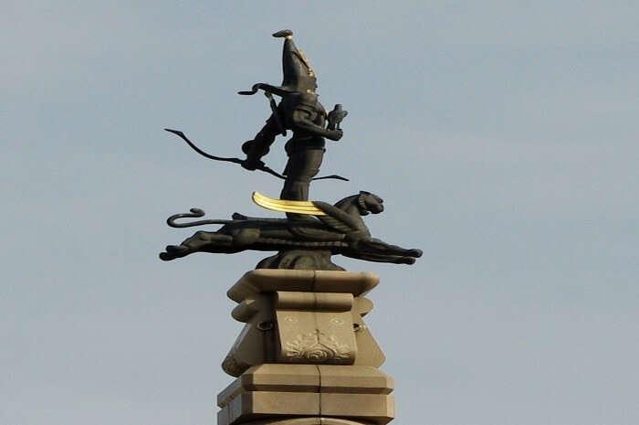 Almaty's Golden Man Monument