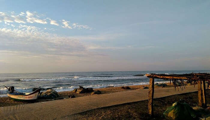 View Of Mahabalipuram Beach