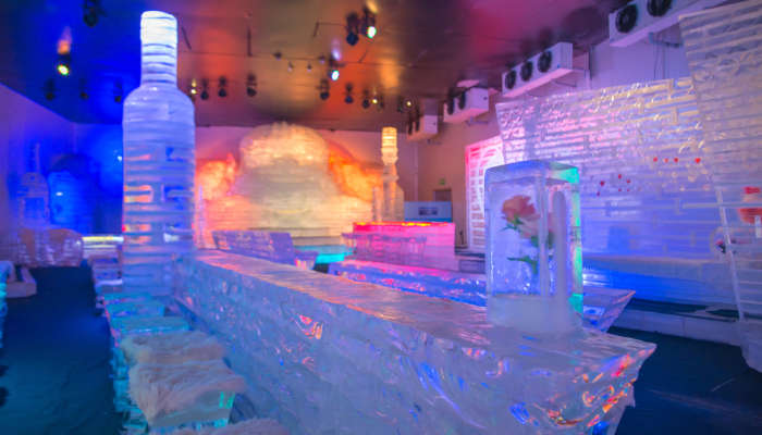 Cocktail in the ice bar