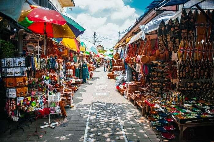 Ubud market in Bali