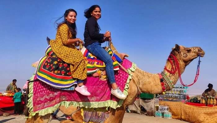 on the camelride