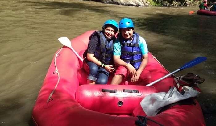 had a thrilling experience on boat ride