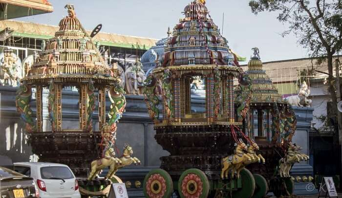 the old authentic temple in sri lanka