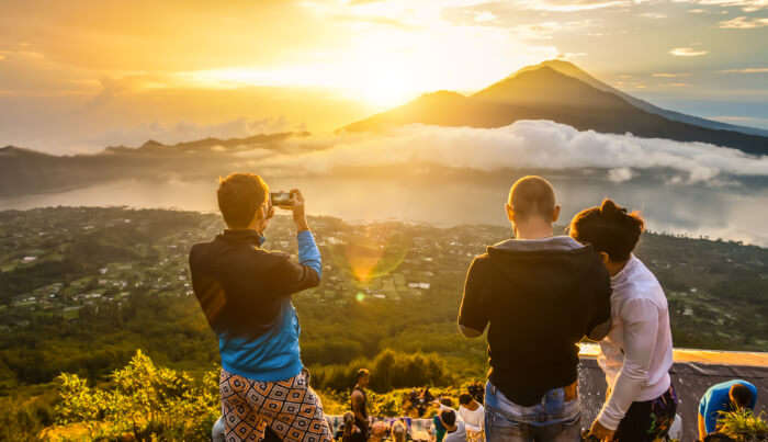Climb Mount Batur At Sunrise