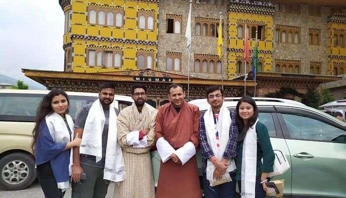 meeting with locals of Bhutan